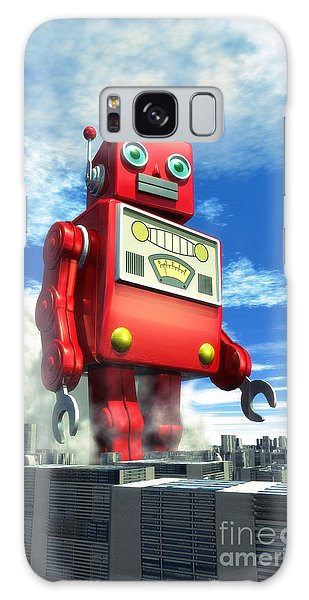 The Red Tin Robot And The City Galaxy Case