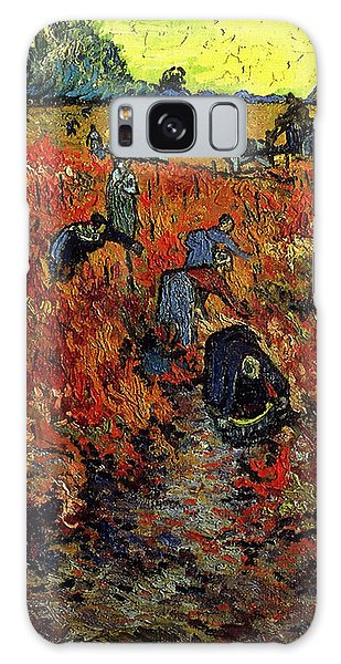 Galaxy Case featuring the painting The Red Vineyard At Arles by Van Gogh