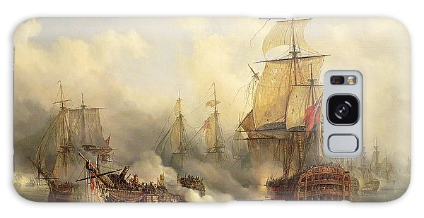 Boat Galaxy S8 Case - Unknown Title Sea Battle by Auguste Etienne Francois Mayer