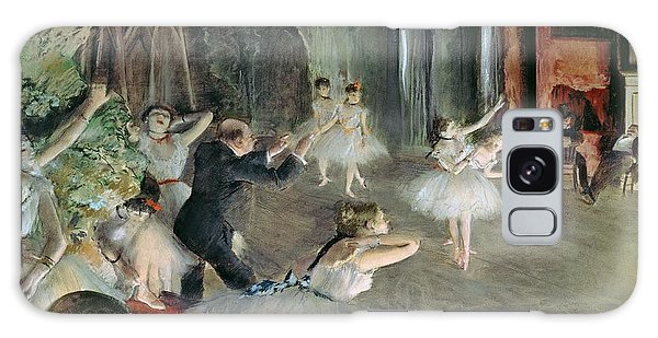 Dance Galaxy Case - The Rehearsal Of The Ballet On Stage by Edgar Degas