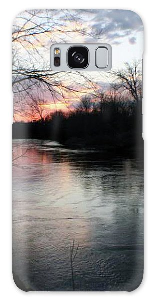 The River At Sunset Galaxy Case