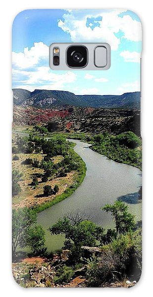 The River Chama At Red Rocks Galaxy Case