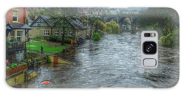 The River Nidd In Flood At Knaresborough Galaxy Case