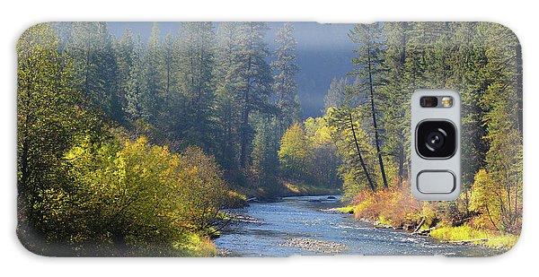 The River Runs Through Autumn Galaxy Case