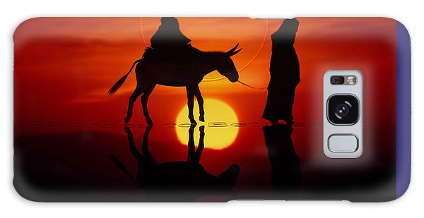 Galaxy Case featuring the painting The Road To Bethlehem by Valerie Anne Kelly