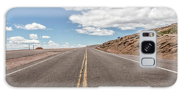 The Road Up Pikes Peak At Around 12,000 Feet Galaxy Case by Peter Ciro