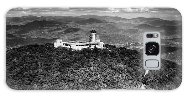 The Road Up To Brasstown Bald In Black And White Galaxy Case