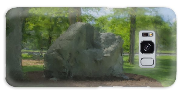 The Rock At Frothingham Park, Easton, Ma Galaxy Case