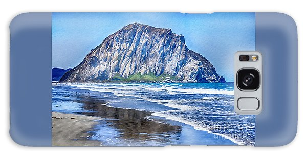 The Rock At Morro Bay Large Canvas Art, Canvas Print, Large Art, Large Wall Decor, Home Decor, Photo Galaxy Case by David Millenheft