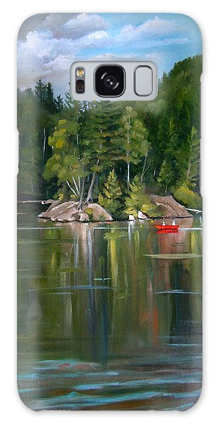 The Rock On Mirror In Woodstock New Hampshire Galaxy Case