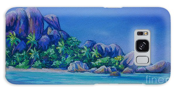 The Rocks On La Digue  Panoramic Galaxy Case