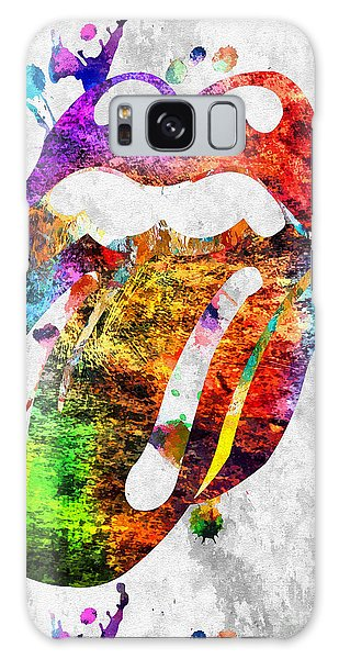 The Rolling Stones Logo Grunge Galaxy Case by Daniel Janda