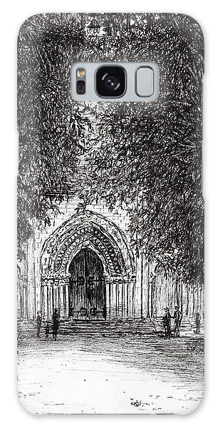Pen And Ink Drawing Galaxy Case - The Roman Door by Vincent Alexander Booth