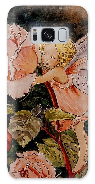 The Rose Fairy After Cicely Mary Barker Galaxy Case by Betty-Anne McDonald