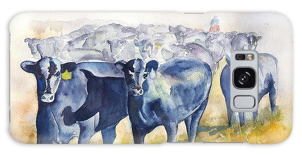 The Round Up Cattle Drive  Galaxy Case by Sharon Mick