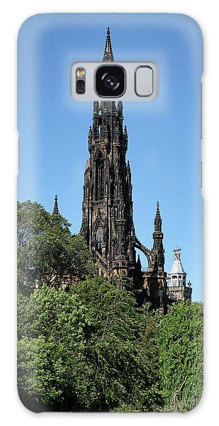 Galaxy Case featuring the photograph The Scott Monument In Edinburgh, Scotland by Jeremy Lavender Photography