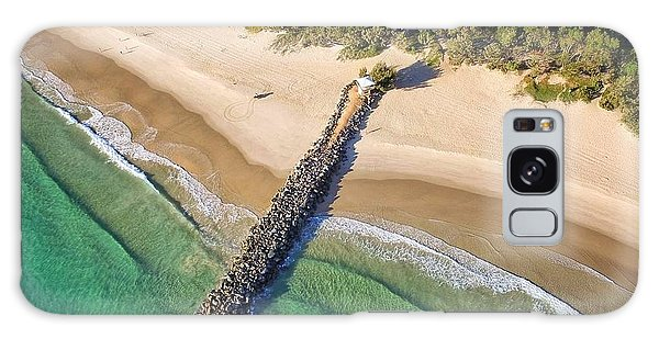 The Sea Wall Near Noosa Main Beach Galaxy Case