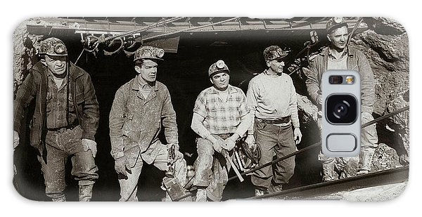 The Search And Retrieval Team After The Knox Mine Disaster Port Griffith Pa 1959 At Mine Entrance Galaxy Case