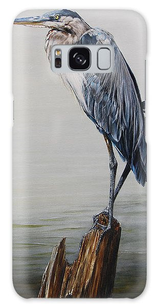Great Lakes Galaxy Case - The Sentinel - Portrait Of A Great Blue Heron by Dreyer Wildlife Print Collections