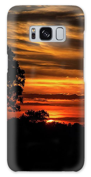 Galaxy Case featuring the photograph The Setting Sun by Mark Dodd