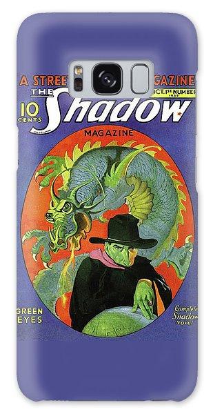 The Shadow Green Eyes Galaxy Case