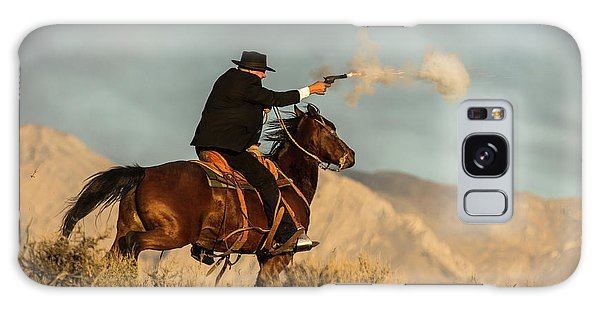 The Sharp Shooter Western Art By Kaylyn Franks Galaxy Case