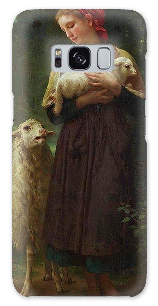 Amaryllis Galaxy Case - The Shepherdess by Adolphe William Bouguereau