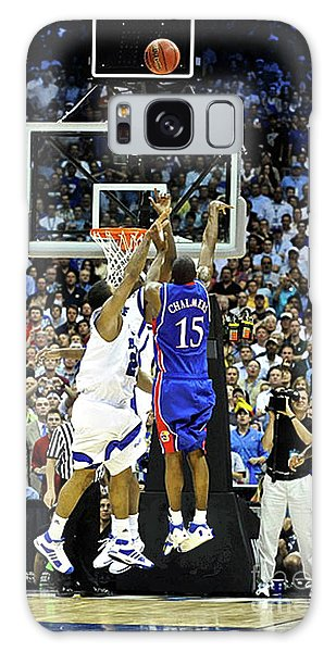 Larry Bird Galaxy S8 Case - The Shot, 3.1 Seconds, Mario Chalmers Magic, Kansas Basketball 2008 Ncaa Championship by Thomas Pollart
