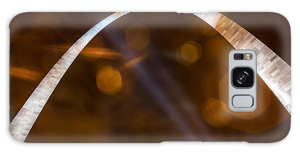 The Silver Gateway Arch Galaxy Case by Semmick Photo