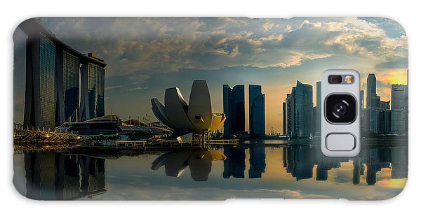 The Singapore Skyline Galaxy Case