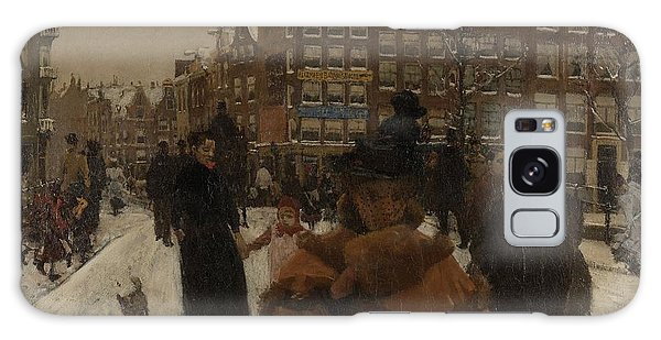 The Singel Bridge At The Paleisstraat In Amsterdam, 1896 Galaxy Case