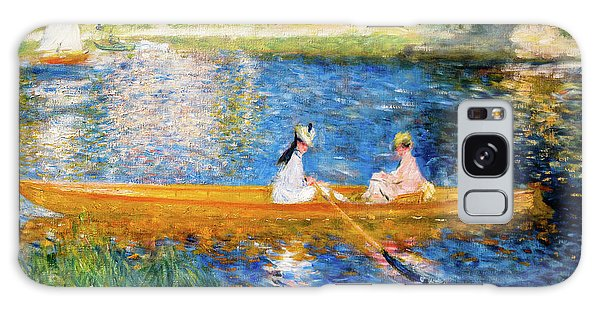 Iridescent Galaxy Case - Renoir Boating On The Seine by Auguste Renoir