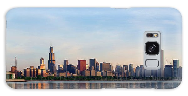 The Skyline Of Chicago At Sunrise Galaxy Case