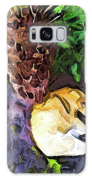 The Sleeping Cat And The Dead Tree Fern Galaxy Case