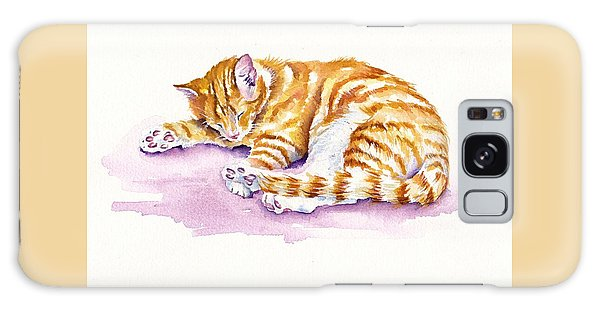 Cat Galaxy S8 Case - The Sleepy Kitten by Debra Hall