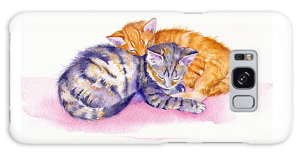 Cat Galaxy S8 Case - The Sleepy Kittens by Debra Hall