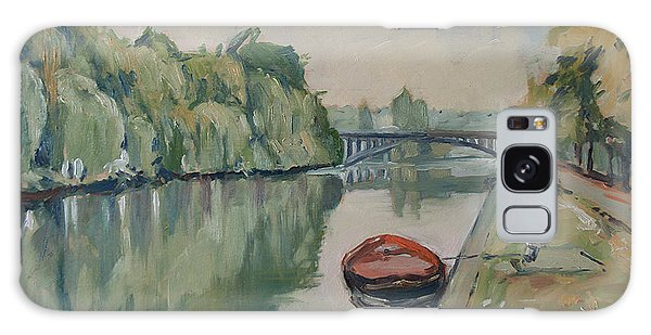 The Small Boat Along The Quai Of Halage Vise Galaxy Case