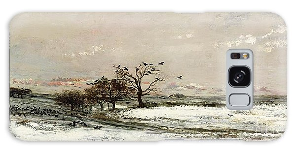 Rural Scenes Galaxy S8 Case - The Snow by Charles Francois Daubigny
