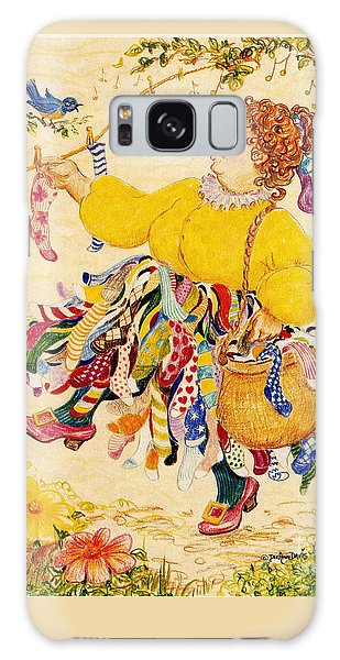 The Sock Lady Galaxy Case by Dee Davis
