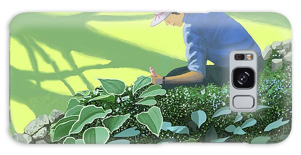 The Solace Of The Shade Garden Galaxy Case by Gary Giacomelli