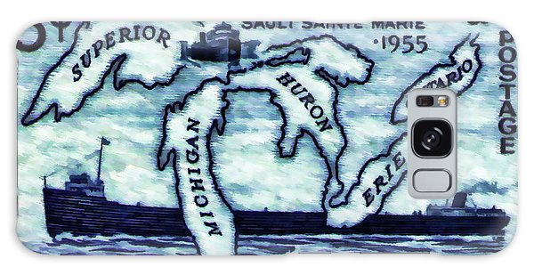 The Soo Locks Stamp Galaxy Case