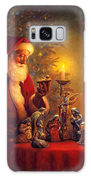 Galaxy Case featuring the painting The Spirit Of Christmas by Greg Olsen