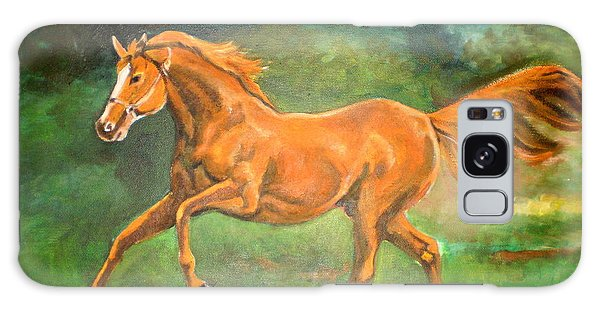The Stallion-horse Art Painting  Galaxy Case