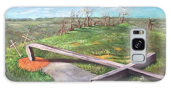 Millsfield Tennessee Steel Cross Galaxy Case by Randy Burns