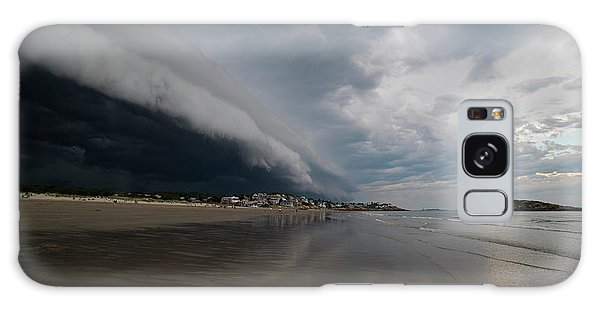 The Storm Rolling In To Good Harbor Beach Gloucester Ma Galaxy Case