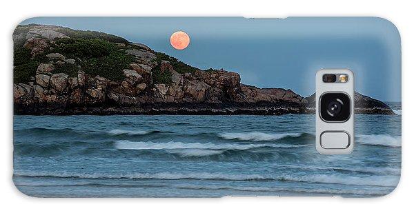 The Strawberry Moon Rising Over Good Harbor Beach Gloucester Ma Island Galaxy Case