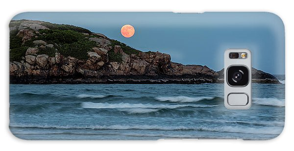 The Strawberry Moon Rising Over Good Harbor Beach Gloucester Ma Island Galaxy Case