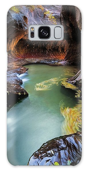 Metal Leaf Galaxy Case - The Subway Colors by Edgars Erglis