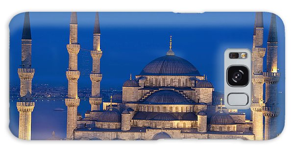 Place Of Worship Galaxy Case - The Sultanahmet Or Blue Mosque At Dusk by Axiom Photographic