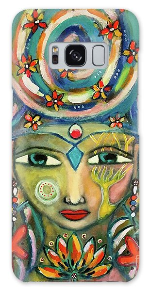 The Sun Goddess  Galaxy Case